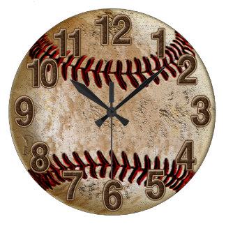 Relógio Grande Pulso de disparo de pedra legal do basebol do