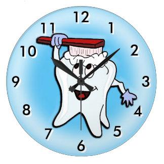 Relógio Grande Pulso de disparo dental com cor variável do fundo