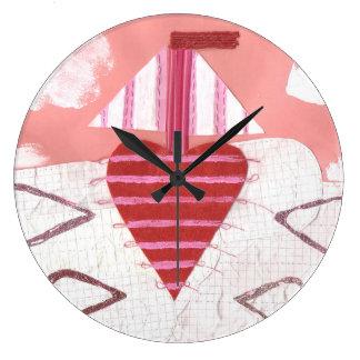 Relógio Grande Pulso de disparo do barco de Loveheart