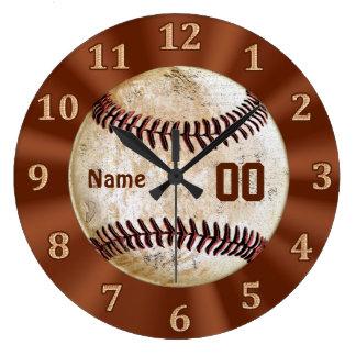 Relógio Grande Pulso de disparo do basebol do vintage SEUS NOME &