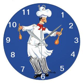 Relógio Grande Pulso de disparo do cozinheiro chefe