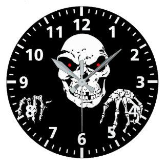 Relógio Grande Pulso de disparo do crânio do Dia das Bruxas