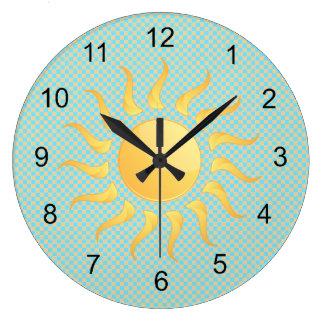 Relógio Grande Pulso de disparo do design da luz do sol