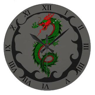 Relógio Grande Pulso de disparo do dragão rujir