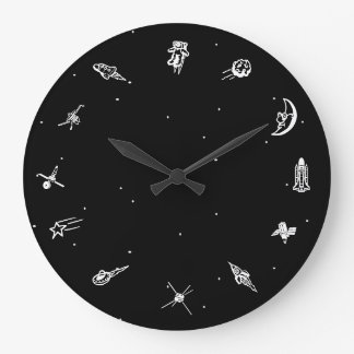 """Relógio Grande Pulso de disparo do """"espaço"""""""