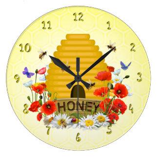 Relógio Grande Pulso de disparo do mel da colmeia do prado do