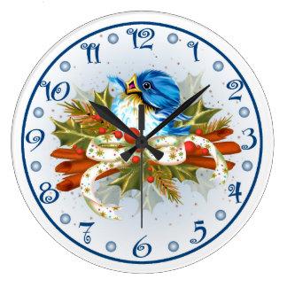 Relógio Grande PULSO DE DISPARO do NATAL do PÁSSARO da ESPECIARIA