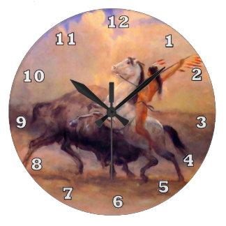 Relógio Grande Pulso de disparo do nativo americano do caçador do