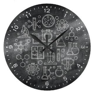 Relógio Grande Pulso de disparo do quadro da ciência da química