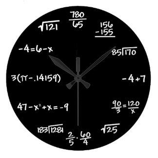 Relógio Grande Pulso de disparo do quadro da matemática -