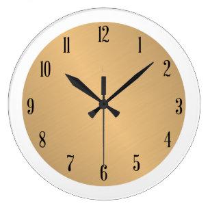 c9e2a8d4fe9 Relógio Grande Pulso de disparo Dourado do brilho com curso