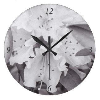 Relógio Grande Pulso de disparo floral cinzento do círculo
