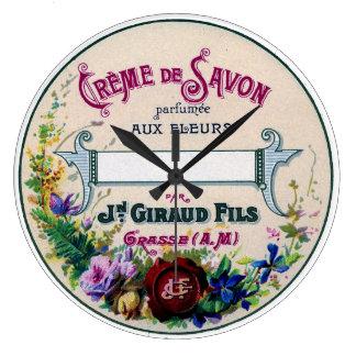 Relógio Grande pulso de disparo francês da etiqueta do sabão do