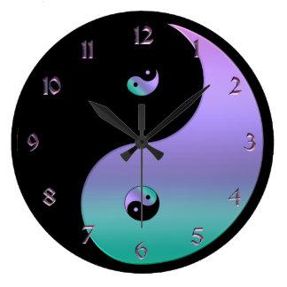 Relógio Grande Pulso de disparo iridescente de Yin Yang