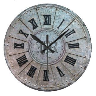 """Relógio Grande Pulso de disparo """"oxidado"""" da antiguidade com (ou"""