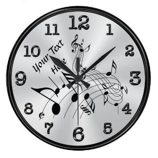 Relógio Grande Pulso de disparo personalizado de roda da nota da