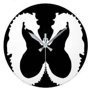Relógio Grande Pulso de disparo preto & branco da Figura-Terra do