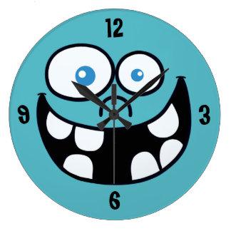 Relógio Grande Pulso de disparo redondo de Jimmy (azul)