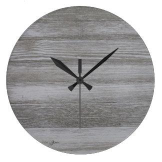Relógio Grande Pulso de disparo redondo de madeira do celeiro