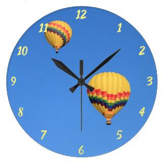Relógio Grande Pulso de disparo redondo dos balões de ar quente