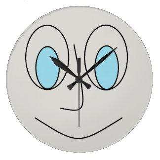 Relógio Grande Pulso de disparo redondo Eyed azul do design do