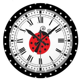 Relógio Grande Pulso de disparo retro do estilo do joaninha das