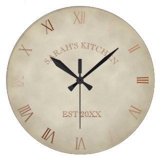 Relógio Grande Pulso de disparo rústico antigo personalizado do