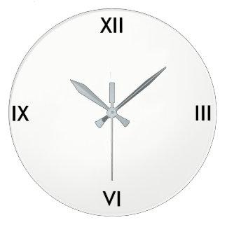 Relógio Grande Pulso de disparo simples (branco)