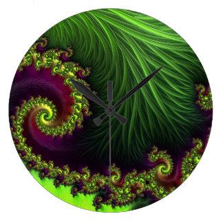 Relógio Grande Pulso de disparo verde vibrante da arte abstracta