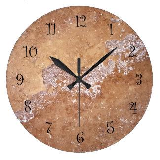 Relógio Grande Pulsos de disparo de parede de pedra da cozinha do