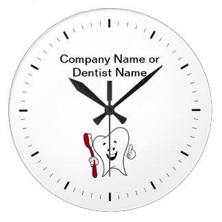 Relógio Grande Pulsos de disparo do logotipo de Dentista