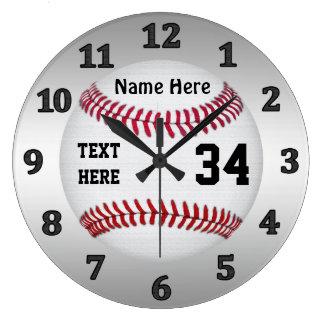 Relógio Grande Pulsos de disparo personalizados do basebol com
