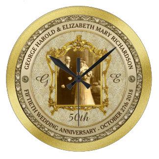 Relógio Grande Quadro clássico da foto do aniversário de
