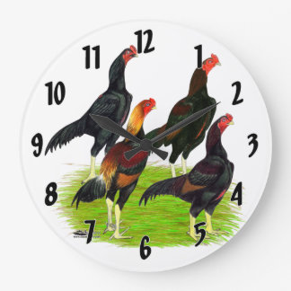 Relógio Grande Quarteto oriental da galinha de jogo