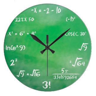 Relógio Grande Questionário da equação da matemática para geeks