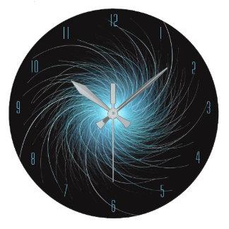 Relógio Grande Redemoinho azul do Fractal