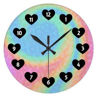 Relógio Grande Redemoinho do arco-íris com o pulso de disparo de