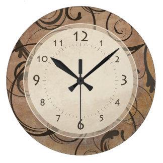 Relógio Grande Redemoinhos elegantes italianos antigos Toscânia
