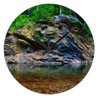 Relógio Grande Reflexão da água, rio do laço, Virgínia