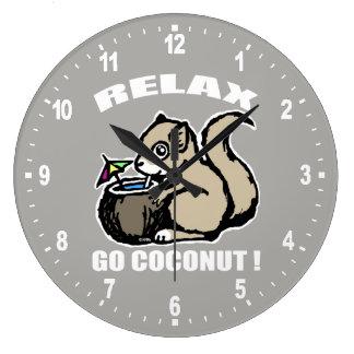 Relógio Grande Relaxe! Vai o coco