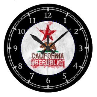 Relógio Grande República de Califórnia no seletor Painterly do