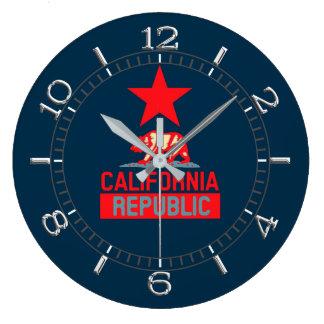 Relógio Grande República de Califórnia no seletor vermelho e azul