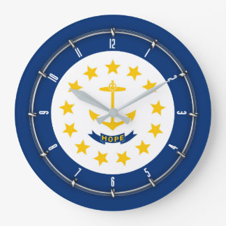 Relógio Grande Rhode - bandeira do estado de ilha em a