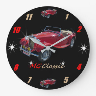 Relógio Grande Roadster clássico Wallclock de MG