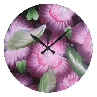 Relógio Grande Rosa