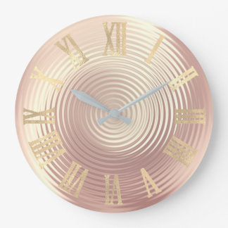 Relógio Grande Rosa cor-de-rosa Numers romano metálico mínimo do