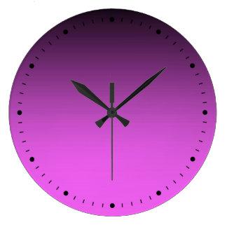 Relógio Grande Rosa do tom da planície dois