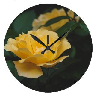 Relógio Grande Rosas amarelos