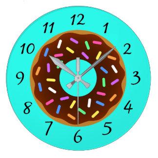 Relógio Grande Rosquinha colorida ilustrada