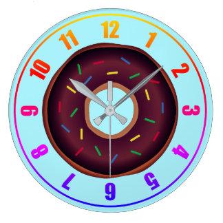 Relógio Grande Rosquinhas: Pulso de disparo de parede acrílico